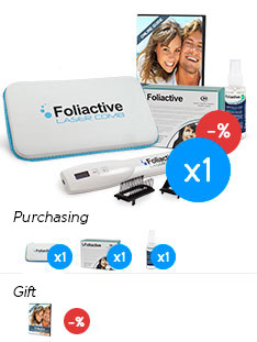Total Hair: Foliactive Laser + Foliactive Pills + Foliactive Spray.