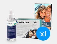 Foliactive pack x1: Foliactive Pills + Foliactive Spray.
