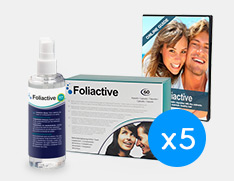 Foliactive pack x5: Foliactive Pills + Foliactive Spray.